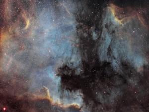NGC-7000 Nord america et le pélican